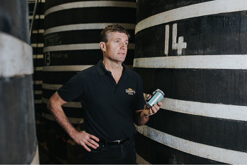 David Sheppy, Master of Cider, with VAT 14 Classic Cider