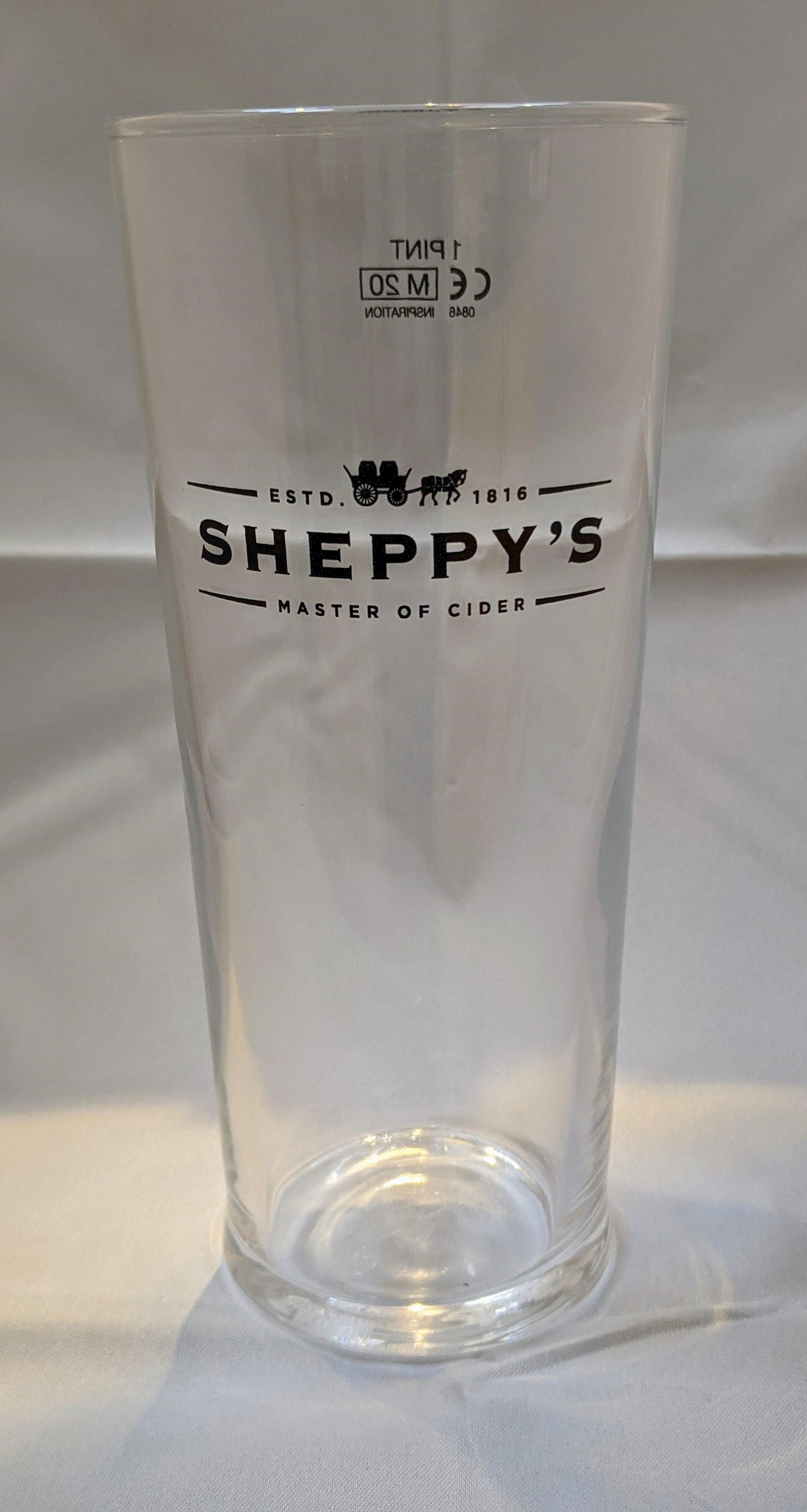 Sheppy's Pint Glass with logo